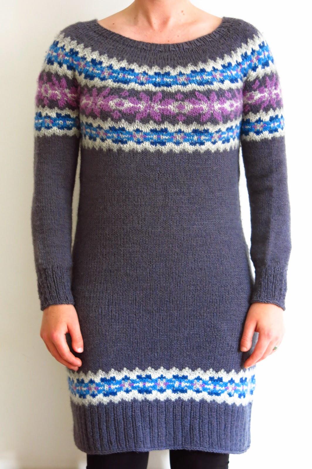 fairisle fair isle sweater dress knitting pattern