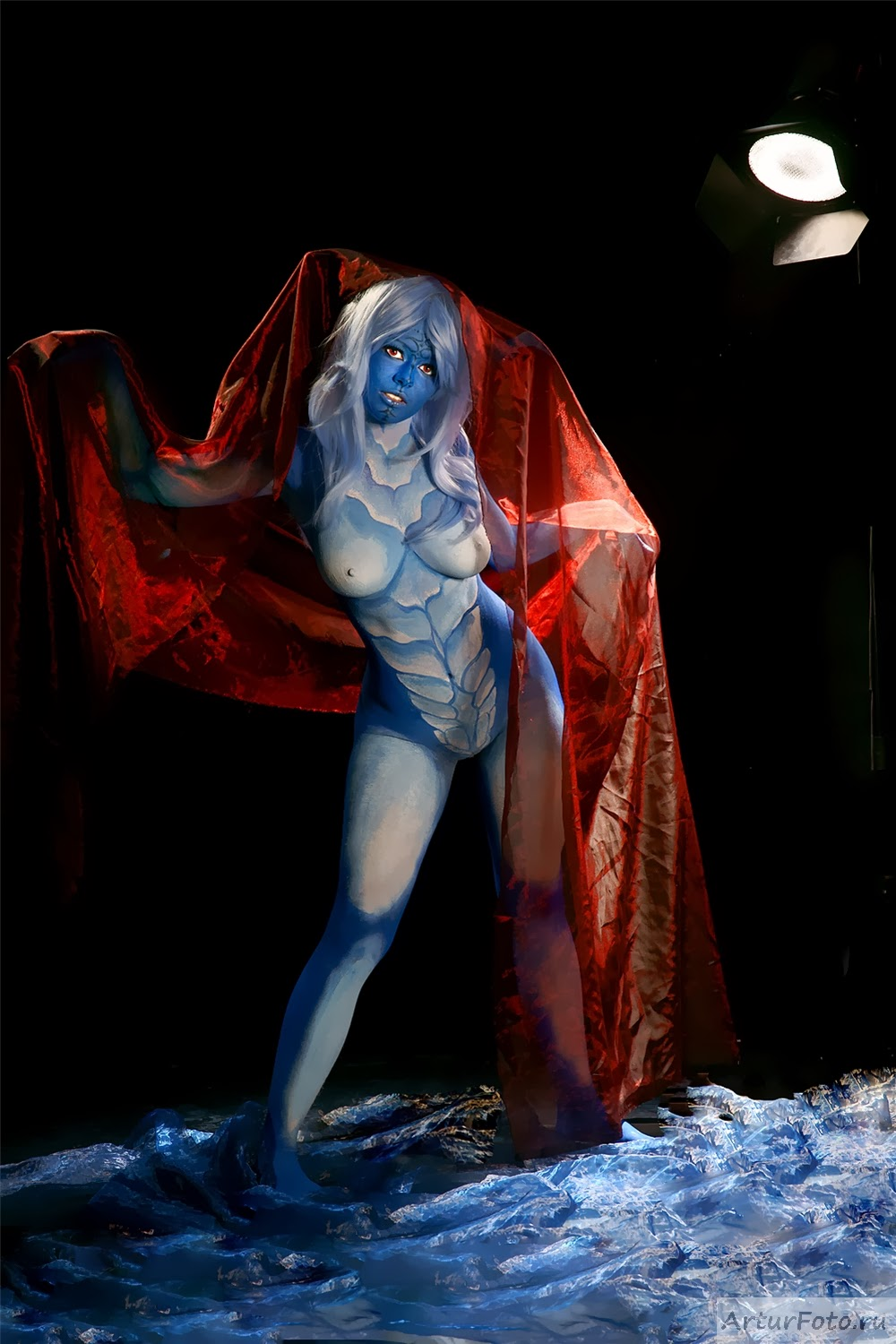 body paint sexy de ice dragon