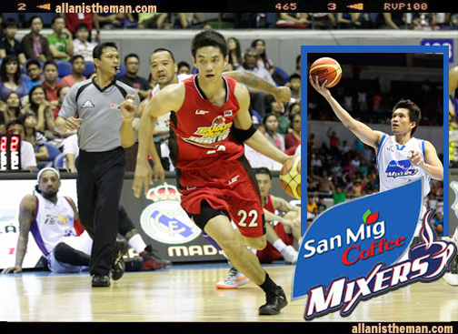 San Mig Coffee Mixers Allein Maliksi James Yap