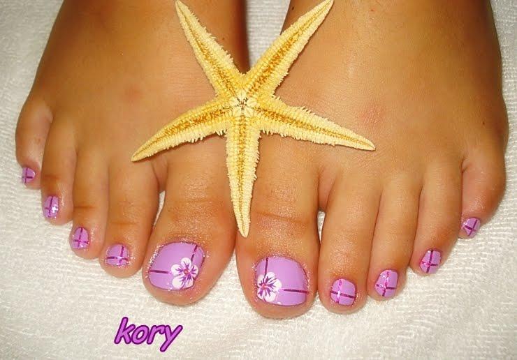Figuras para uñas delos pies - Imagui