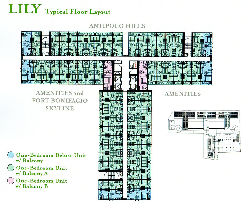 Floor plans unit layout grace residences by smdc for Smdc 1 bedroom interior design