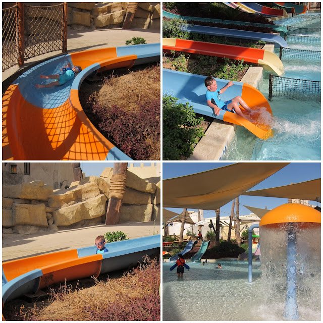 Kid's slides at Yas Waterworld