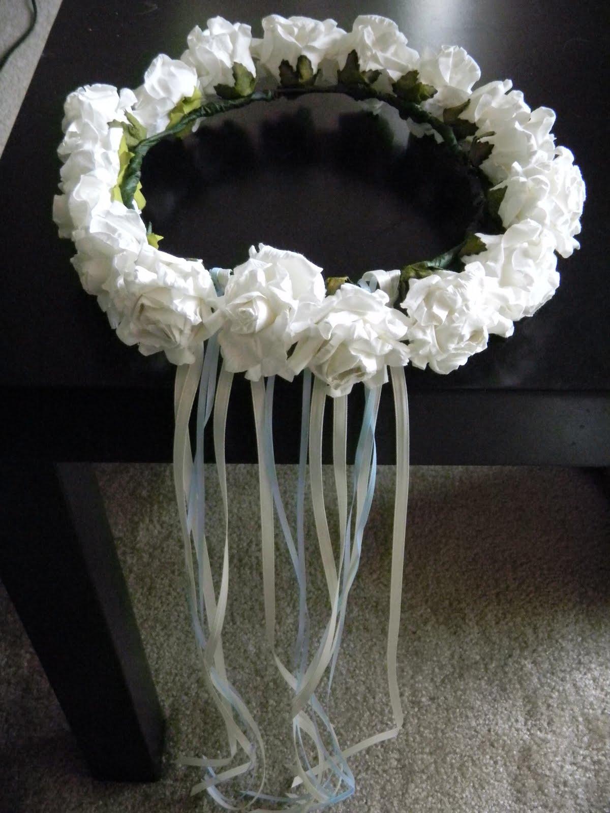 Caseys Creations Paper Flower Crown Flower Girl