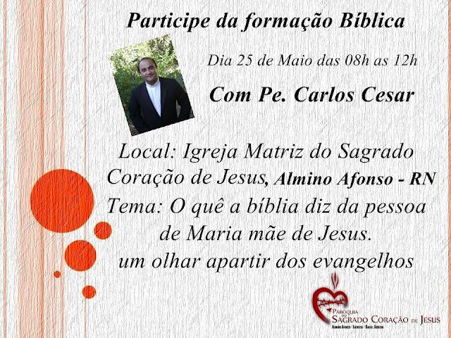 Paróquia de Almino Afonso realizará formação bíblica dia 25