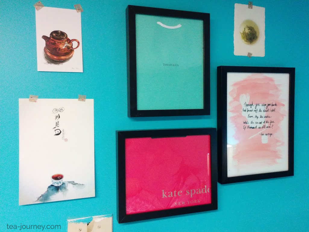 Oasis Room Project was a project to create a space that inspired and allowed myself somewhere to rest (meditate). Gallery wall project life watercolor watercolour manifest prints tea kate spade tiffanys