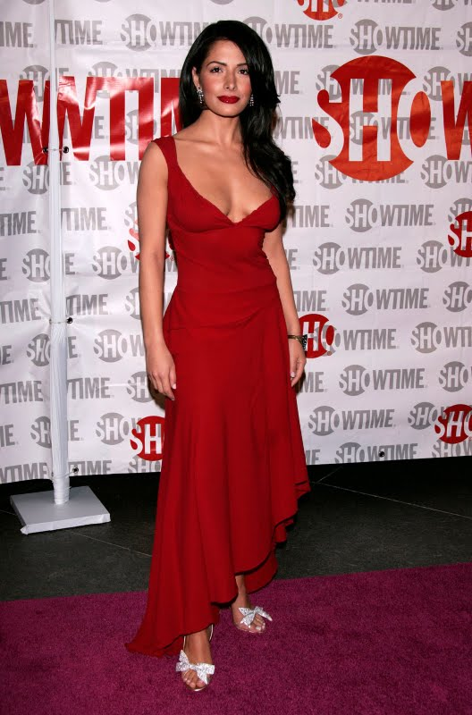 Sarah Shahi Sexy in Red Dress