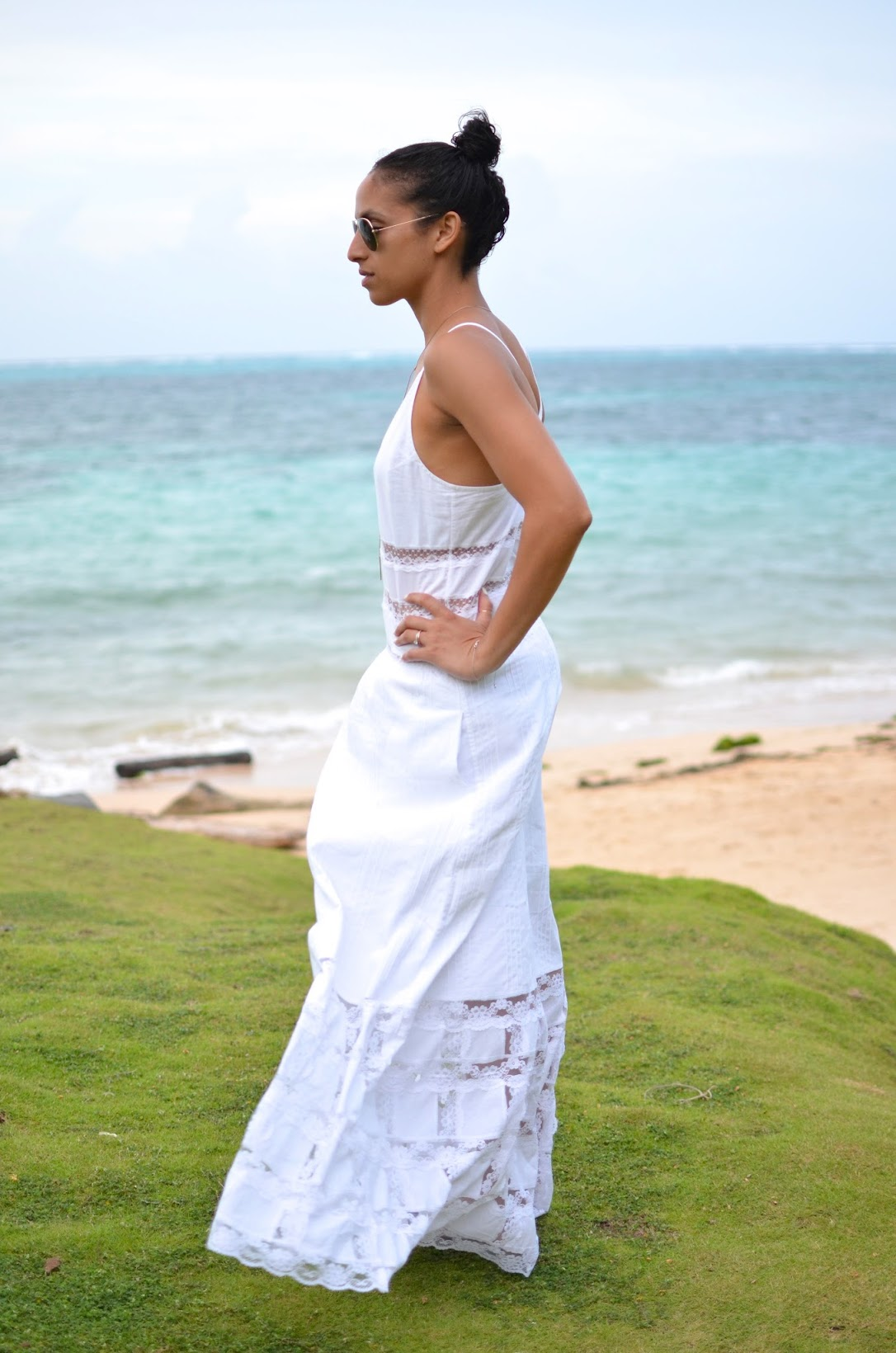 Yemaya Island Hideaway and Spa, Little Corn Island, Nicaragua, Candela NYC, White maxi dress, Lace maxi dress, Candela NYC Elsa dress, vacation style, what to wear in Nicaragua, what to wear on vacation, lariat
