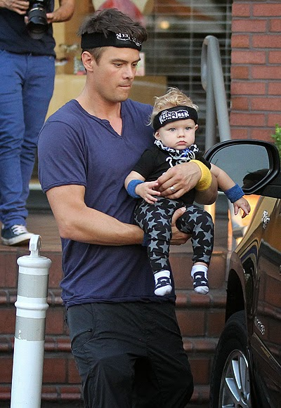 Josh Duhamel and Axel