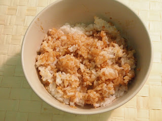 soy sauce in rice