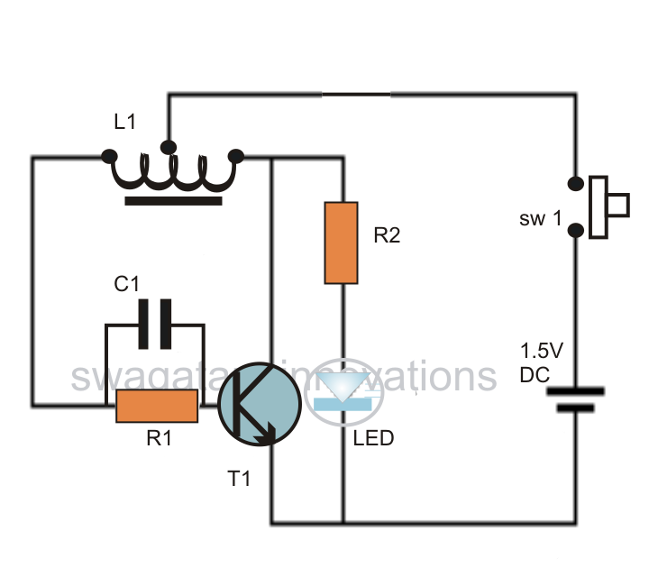 3 led joule thief schematic