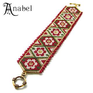 peyote bracelet beadwork jewelry beadweaving anabel