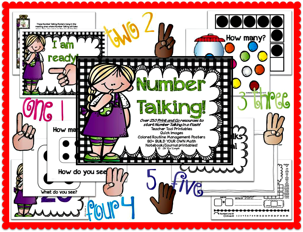 http://www.teacherspayteachers.com/Product/Number-Talking-Teacher-Resources-659681