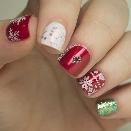 My First Christmas Nail Art of 2013