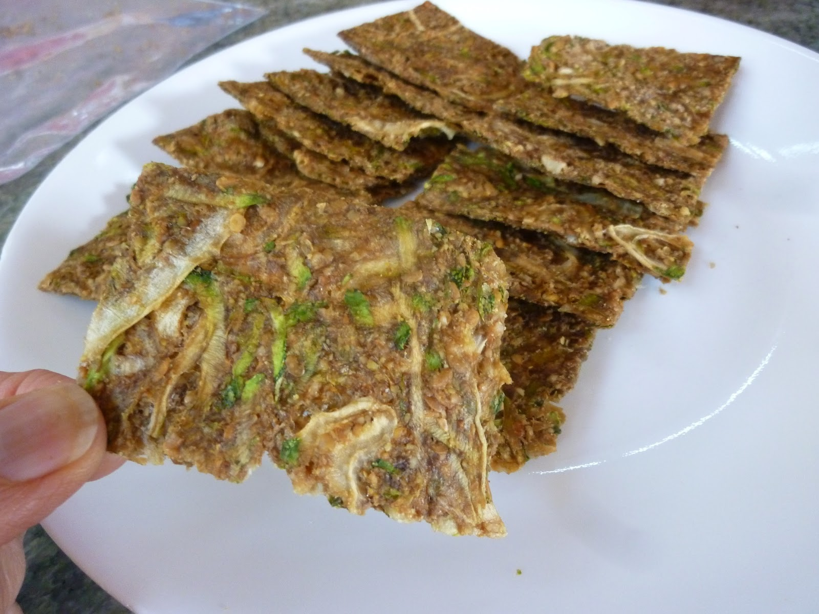 Foods for long life crispy raw vegan and gluten free zucchini onion crispy raw vegan and gluten free zucchini onion crackers high in omega 3 fatty acid forumfinder Images