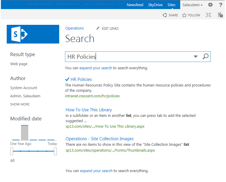 How to Add Promoted Search Results using Query Rules in SharePoint 2013