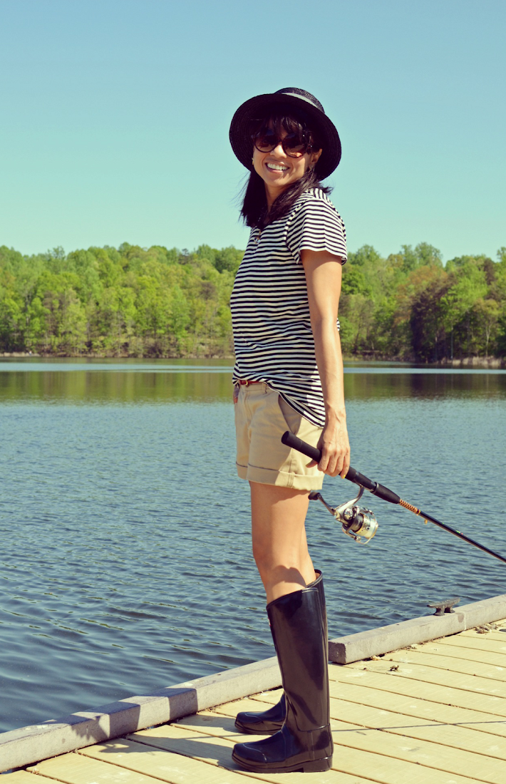 HUNTER BOOTS FOR FISHING