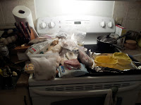 From the upstairs freezer. How? How did it all fit?