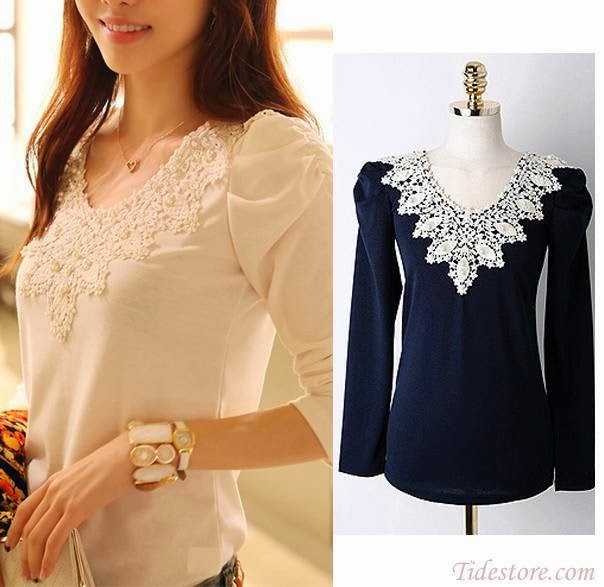 New Arrival Long Sleeve Slim Thicken Plus Size Lace Shirt