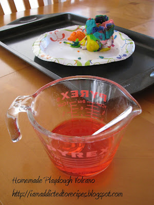 Playdough Volcano | Addicted to Recipes