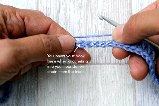 Crocheting Into Chain : ... : CROCHET TIP: How To Crochet Into The Back Of A Foundation Chain