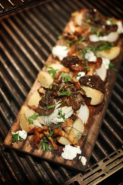 Cedar Plank Wild Mushrooms + Mustard Vinaigrette
