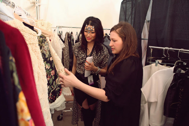 eco fashion week 06 back stage, value village thrift chic challenge with stylist sandy joe karpetz
