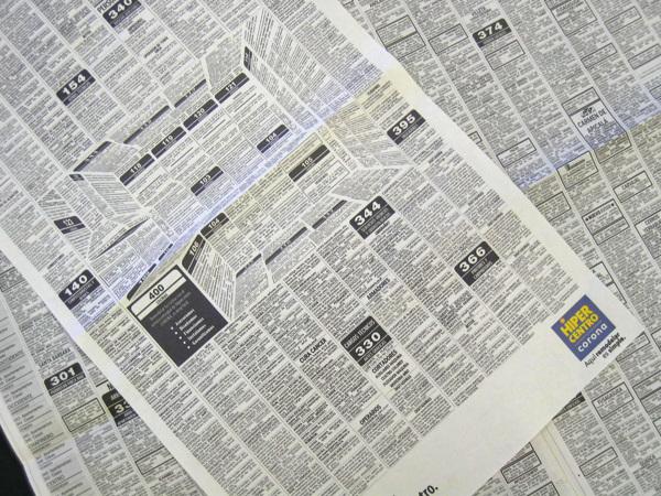 Inteligente anuncio de periódico crea la ilusión óptica de una cocina en 3D