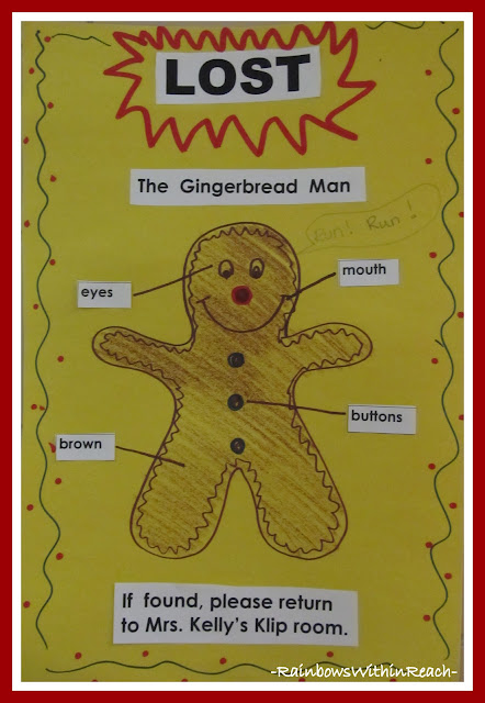 "photo of: Poster for ""Lost"" Gingerbread Man via RainbowsWithinReach"