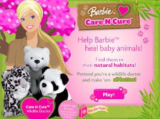 Juego de Barbie cuidadora animales