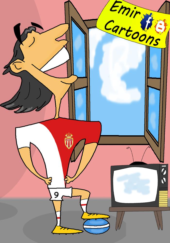 Radamel Falcao,football,payer,cartoon,omar momani,emir cartoon,picture,povreda,monako,kolumbia,