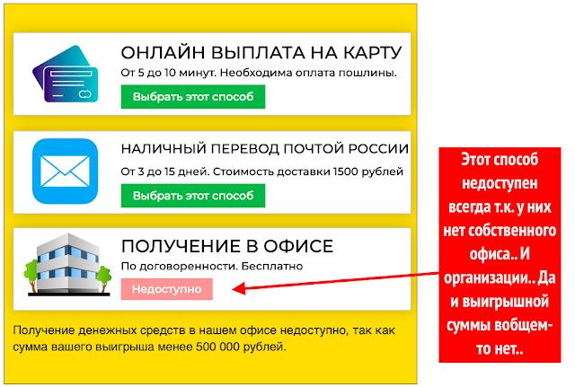 Выбор оплаты комиссии
