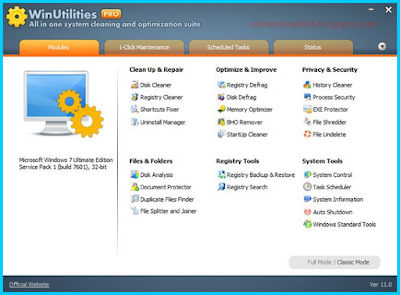 Serial Key WinUtilities Pro Edition 11.38