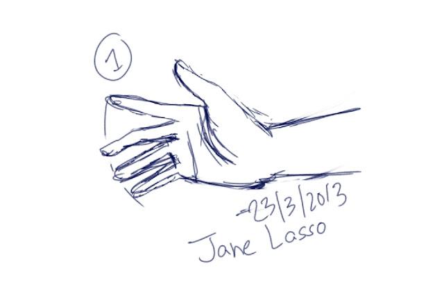 Dibujo de una mano en manga studio 5
