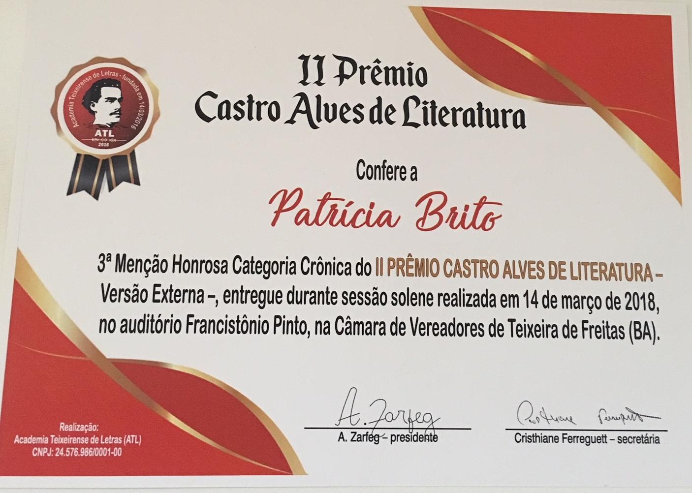 Prêmio Literário 2018
