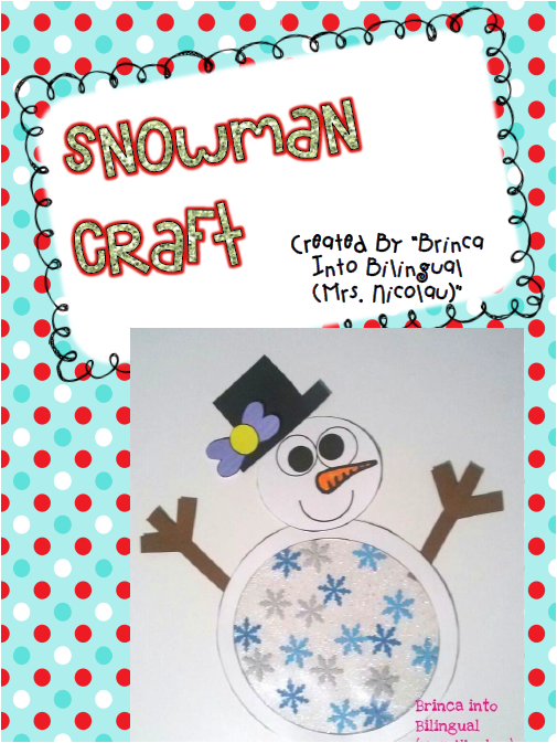 http://www.teacherspayteachers.com/Product/FREE-Snowman-Craft-1648235