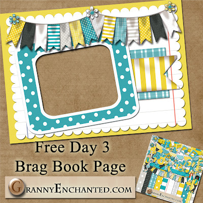 Sunny Kit 50 Free Digital Scrapbook Brag Book Page 3