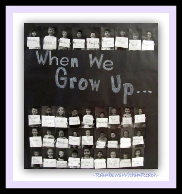photo of: Kindergarten Graduation Bulletin Board via RainbowsWithinReach