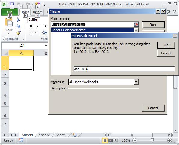 Office Tips Cara membuat kalendar bulanan di Excel secara cepat manual otomatis