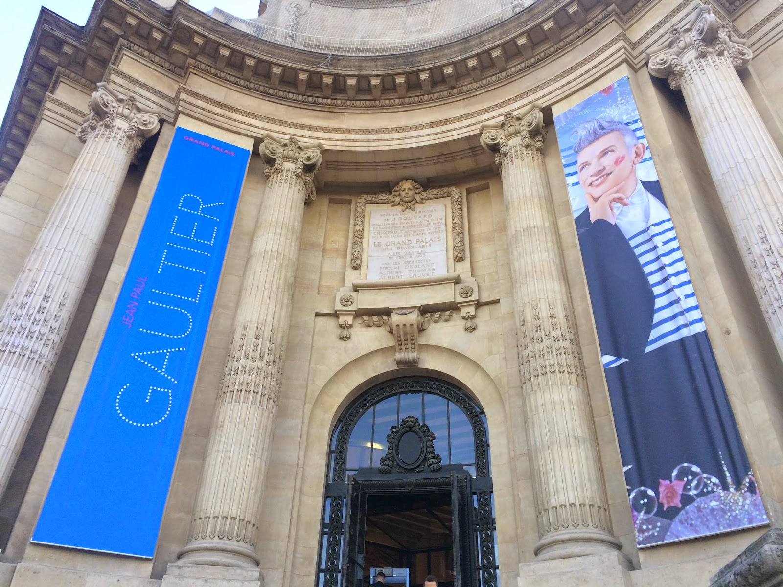 Entrance to the Jean Paul Gaultier exhibition at Le Grand Palais, Paris