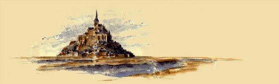 Le Mont St Michel dans sa baie