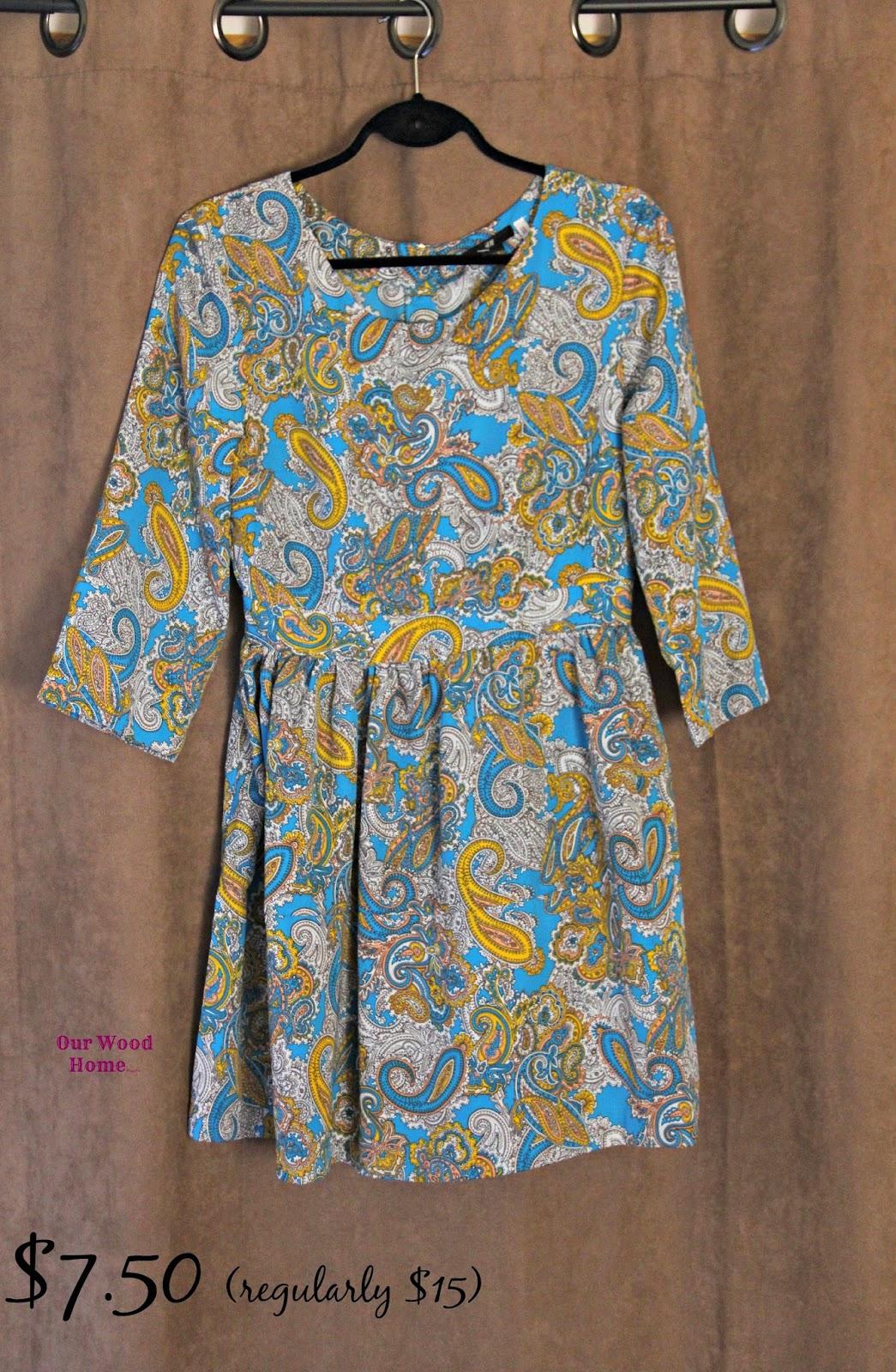 retro print dress
