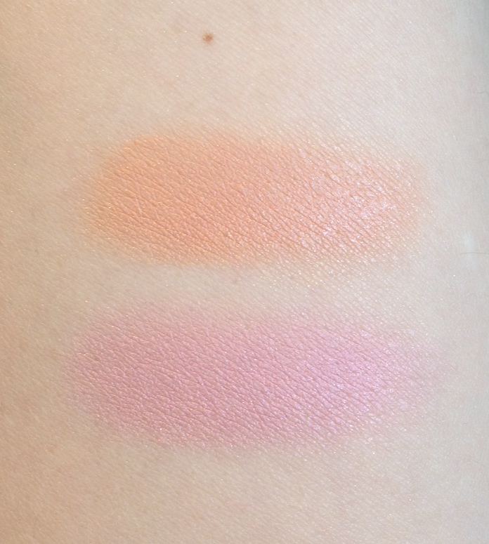 Shu Uemura Bijoux Silk Cushion Blush in Rose Quartz and Orange Quartz