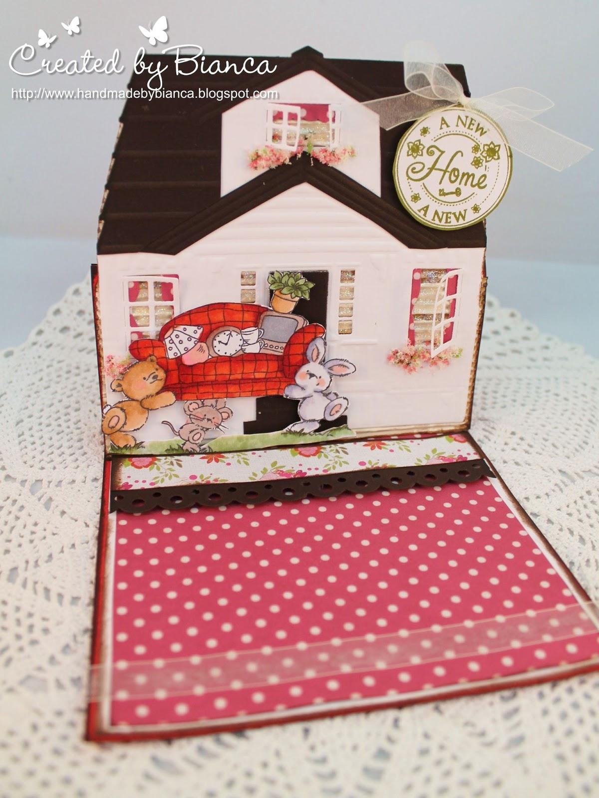handmade by bianca eine h uschen karte zum umzug. Black Bedroom Furniture Sets. Home Design Ideas