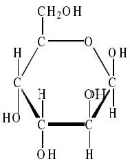 Monomer selulosa (β-D-glukosa)
