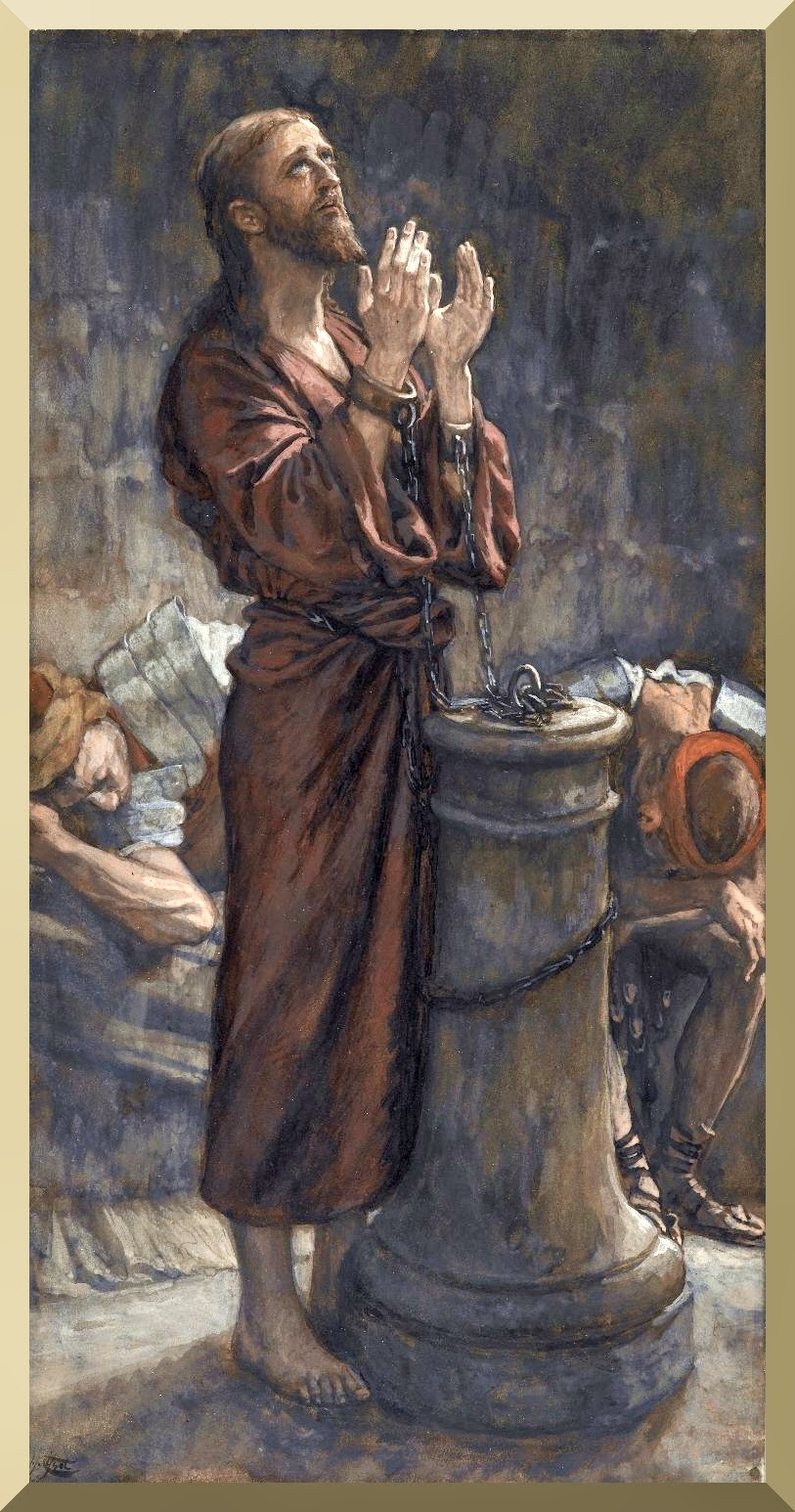 """Good Friday Morning: Jesus in Prison "" -- byJames Tissot"