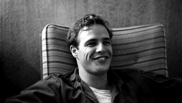 Fotografias a preto e branco de celebridades - Marlon Brando
