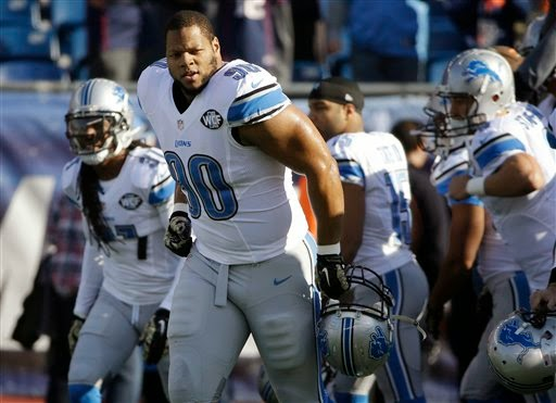 Detroit Lions — Not out of question Ndamukong Suh could be out Sunday