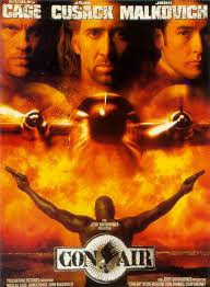 Film - Con Air - Action thriller starring Nicholas Cage and John Malkovich (released in 1997)