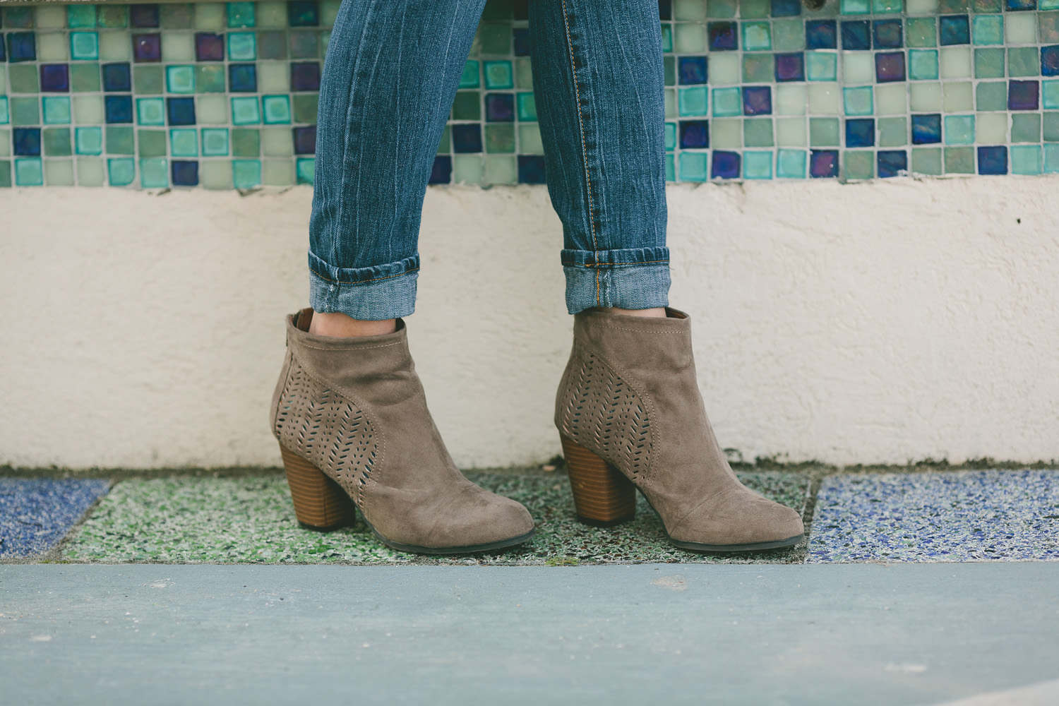 Cutout booties & Denim, St. Augustine Style Blogger Meaghan Alvarado, http://www.justmeaghan.com