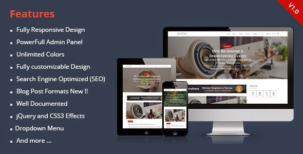 download Crystal - Responsive Personal Blogger Theme